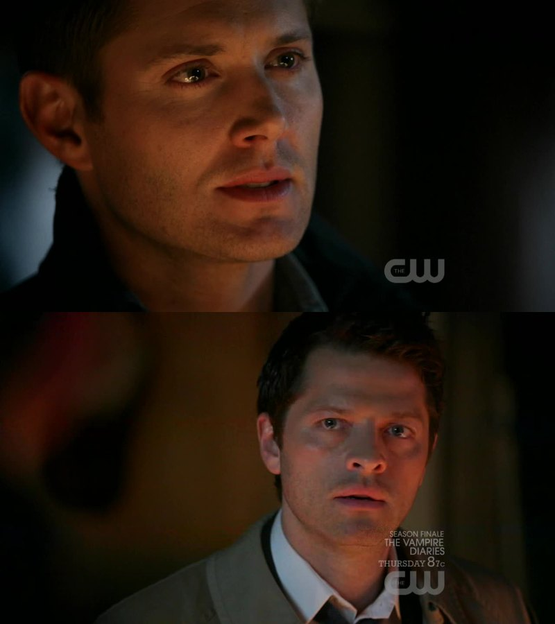 """You gotta look at me, man... Look me in the eye"" I'm crying so much right now 😭  My Destiel feels 💔"