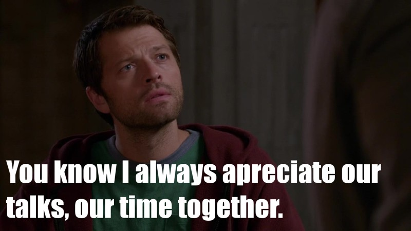 Too much Cas-feels today, I'm done.