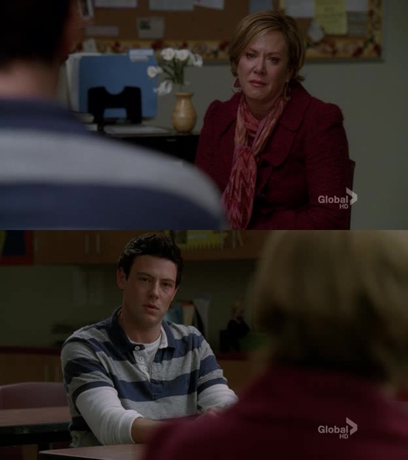 This episode made me cry. The part of Finn's father is just too similar to Cory's destiny. I can't.