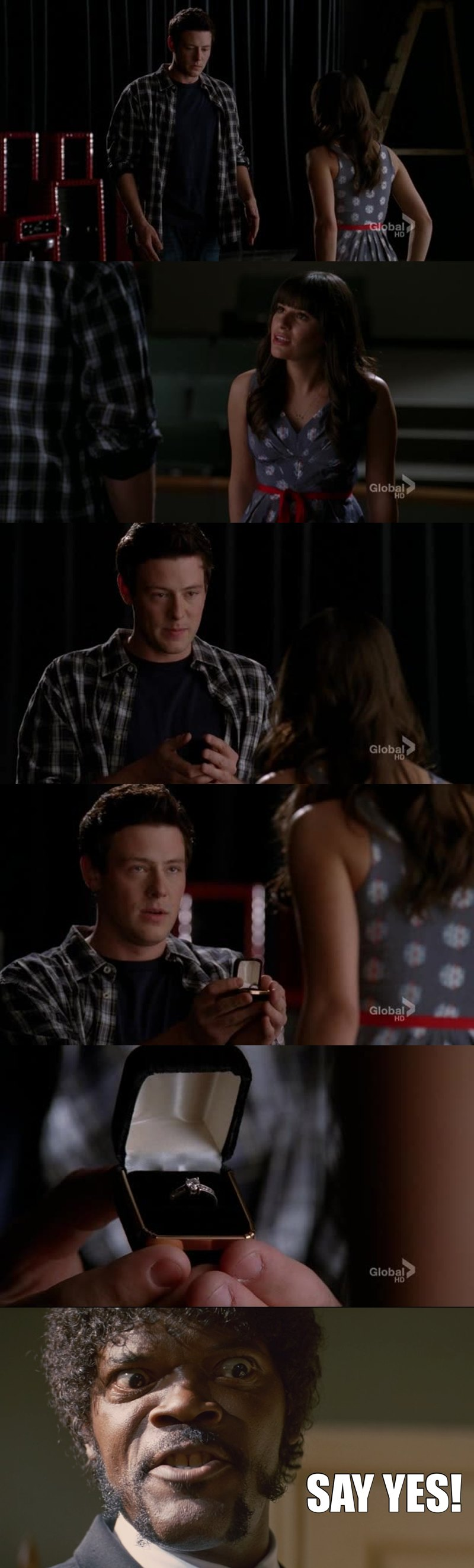 The whole fandom in the finchel final scene: