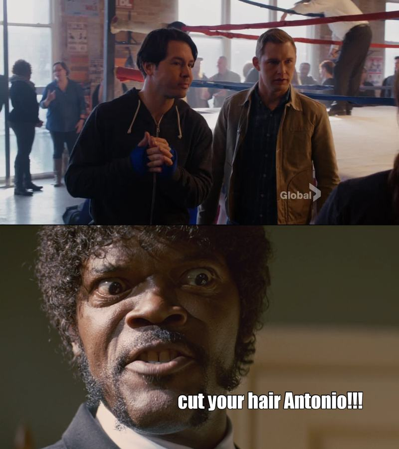 you have to cut your hair Antonio... please! !!!