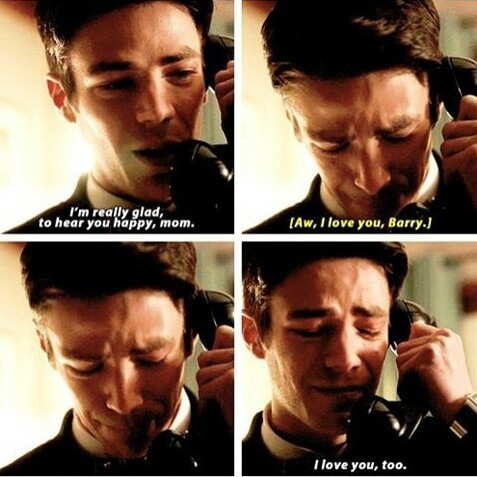 this scene was so emotional I am so happy that Barry got to talk to his mom even though it was earth 2 mom