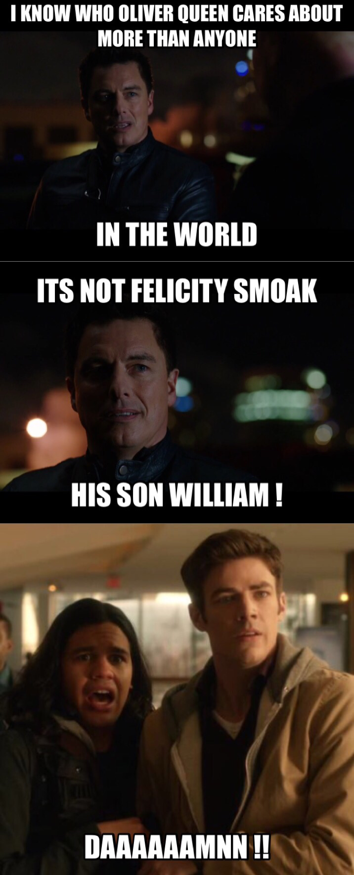 Holyy shiiit ! Oliver should've killed him earlier ...   Most hated person by Oliver squad & us = MALCOLM MERLYN