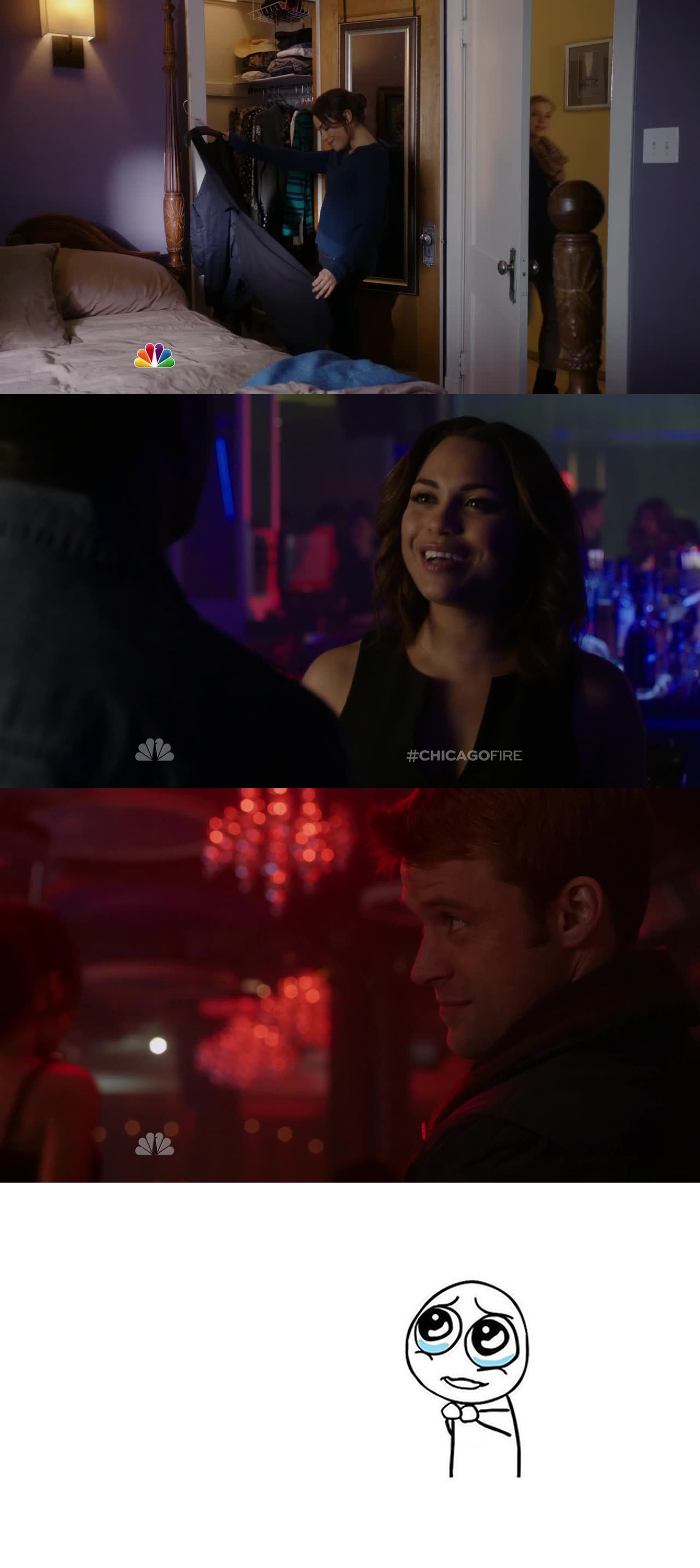 Oh Gabby... How dare you? That dress is sacred... It's casey's... No Dawsey in That episode. They live their live... But i need these two reunited. And now Brett And Cruz are about to split ? No relationships will EVER last on firehouse 51?