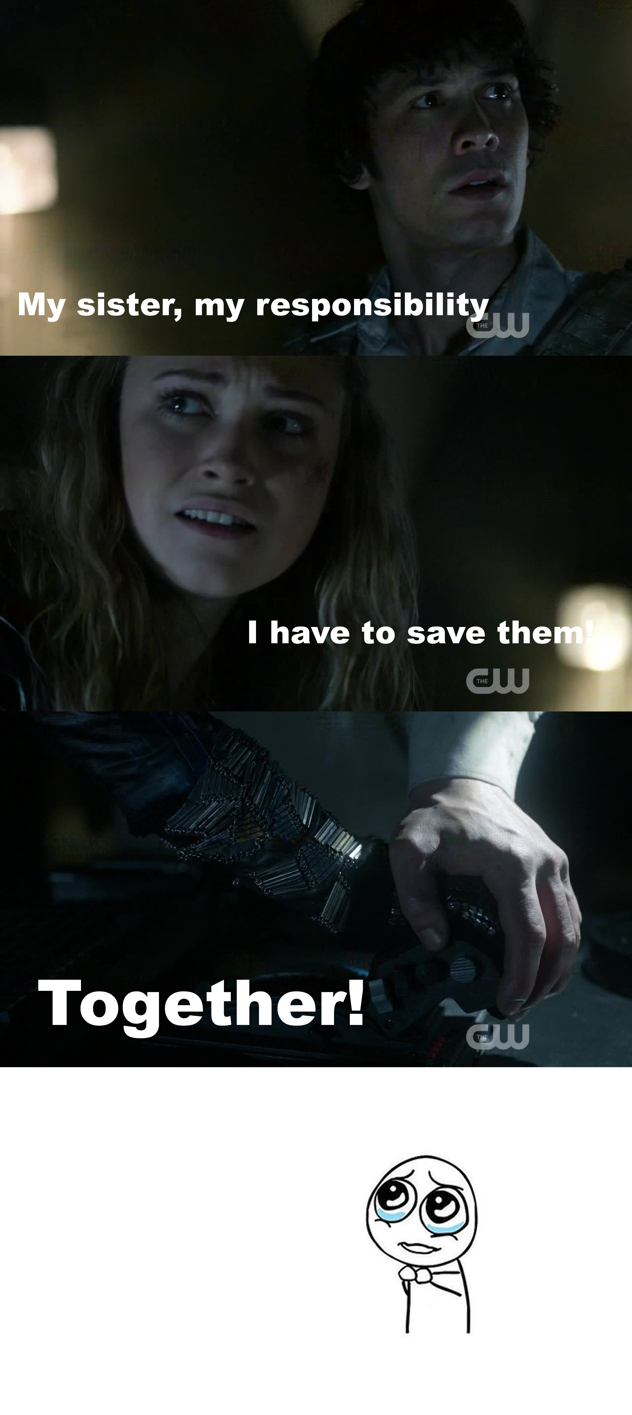 They were amazing in this moment! The kept on supporting each other no matter what! I love #bellarke so much!!