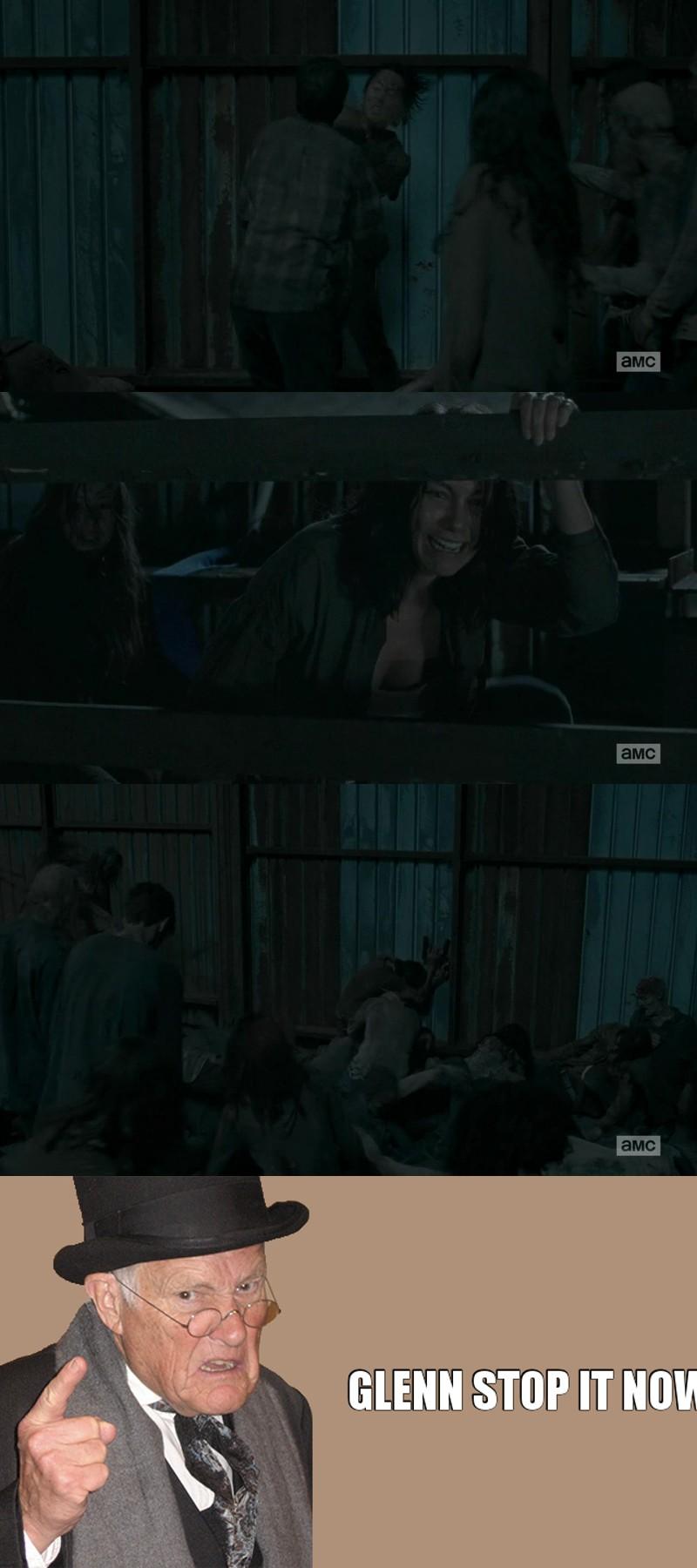 Glenn faut qu'il arrête de faire des truc comme ça aussi 😫😫