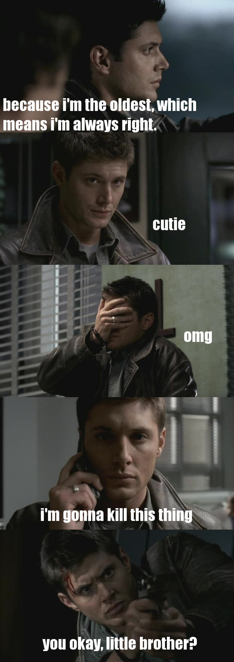 Dean Winchester, you are officially and definitely the best damn thing in this show !