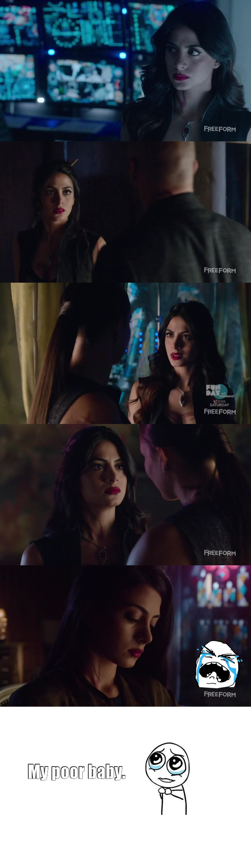 I love how everybody is responding to Malec scenes, but please, can we talk about poor Isabelle. My heart broke in the last scene. She's just protecting Alec but nobody understands and everybody give her crap for it. My little cinnamon roll, someone should stand up for her.