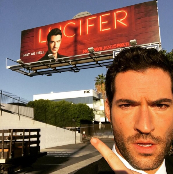 Lucifer pointing Lucifer watching Lucifer (Lucifeption maybe...)