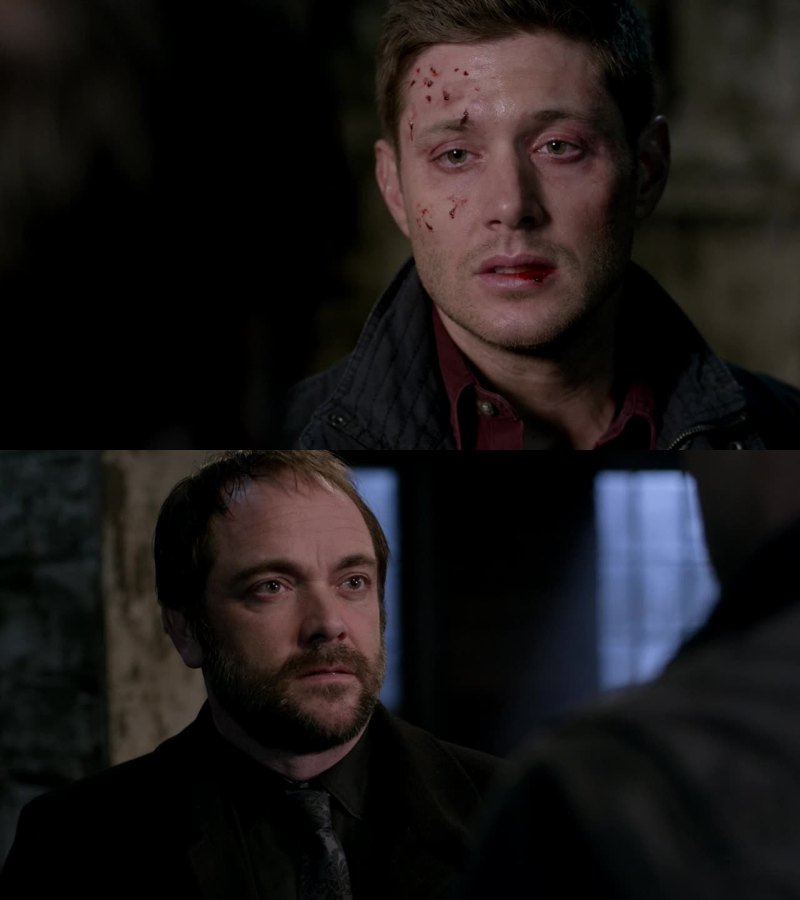 We all can see here the exact moment when Crowley's heart cracks