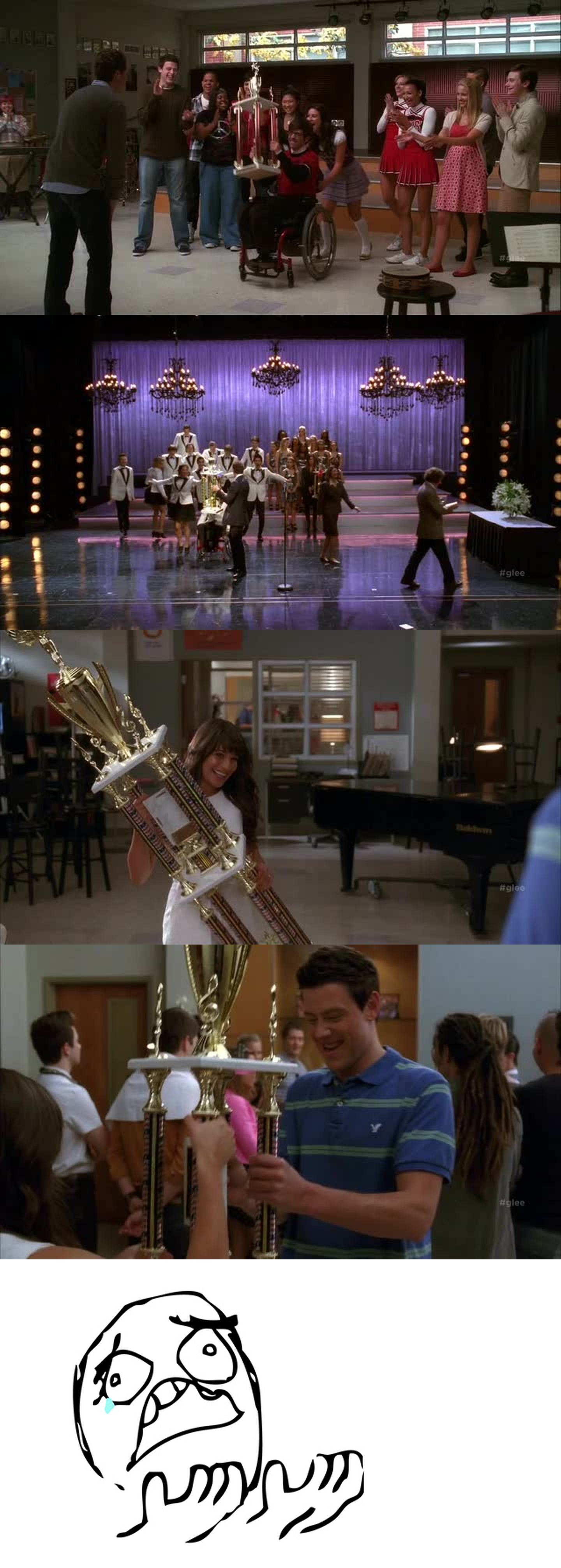 I don't want Glee to be over. I couldn't handle the flashbacks.